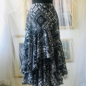Black & white Mermaid Skirt by Champs